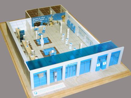 maquettebouw postbankwinkel